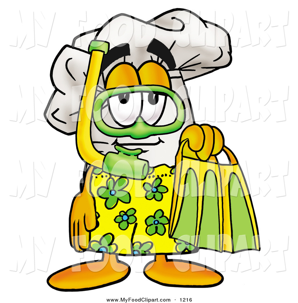 Food Clip Art Of A Chefs Hat Mascot Cartoon Character In Green And