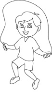 Free Black And White Children Outline Clipart   Clip Art Pictures