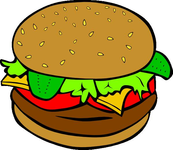 Hamburger Clip Art At Clker Com   Vector Clip Art Online Royalty Free