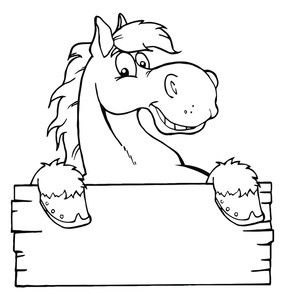 Funny Cartoon Horses Clipart - Clipart Kid