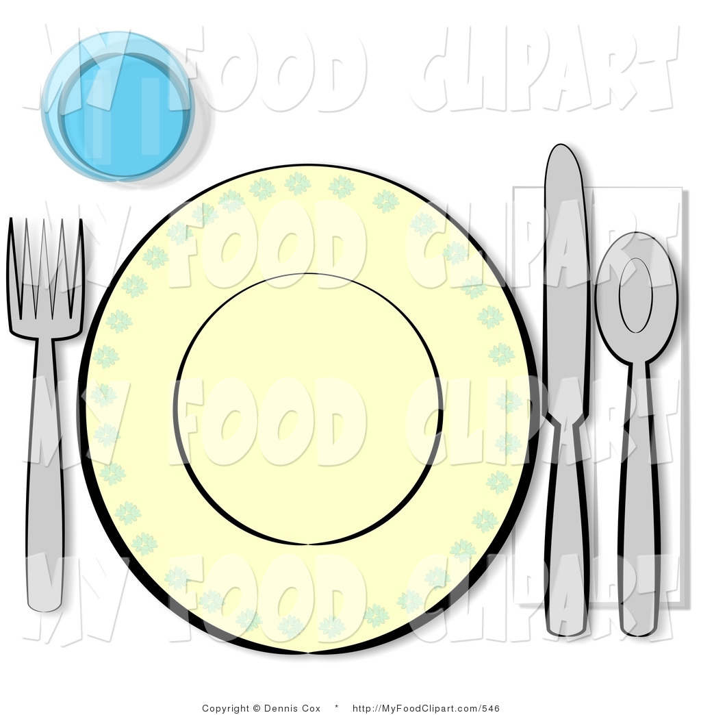 Larger Preview  Food Clip Art Of An Informal Complete Place Setting