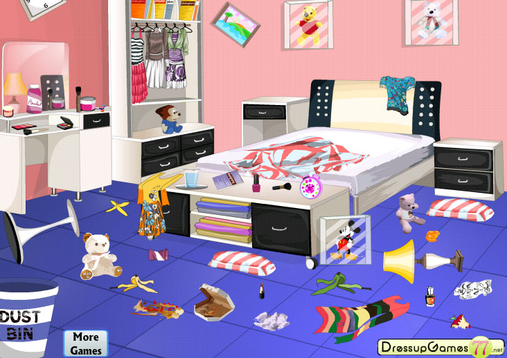 Cleaning Bedroom Games Messy Room Clipart Clipart Suggest