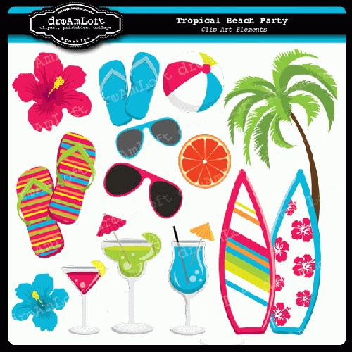My Grafico  Tropical Beach Party Clipart