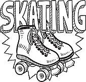 Disco Roller Skating Clipart Clipart Suggest