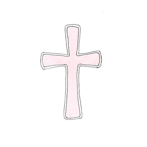 Pink Baptism Cross