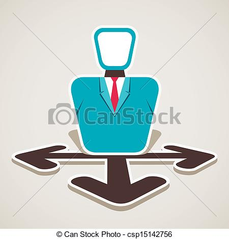 Vector   Men Think To Choose Right Path   Stock Illustration Royalty