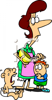 0511 1103 0212 0461 Cartoon Of A Stressed Out Mom Clipart Image