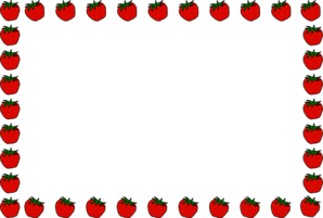 Apple Border Clip Art