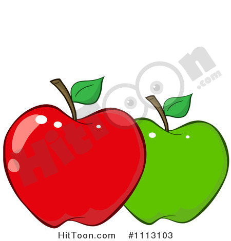 Apple Clipart  1113103  Red And Green Apple By Hit Toon