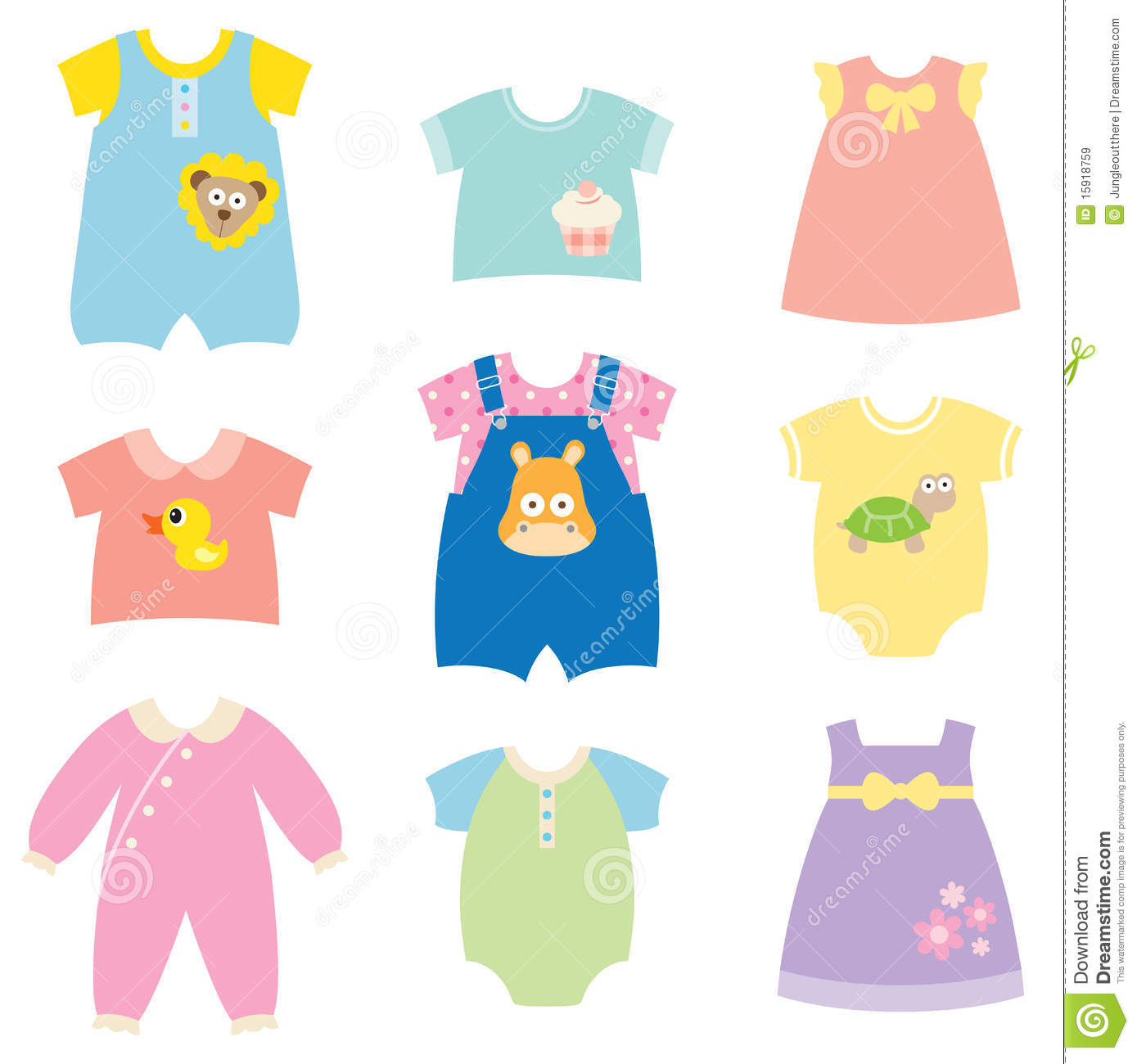 Baby clothes clipart