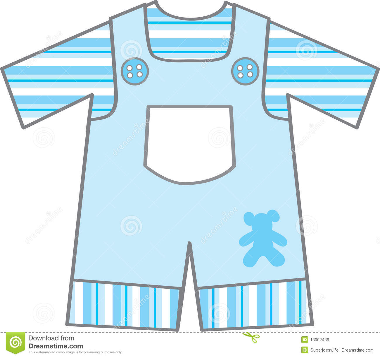 Blue Baby Bib Clip Art With