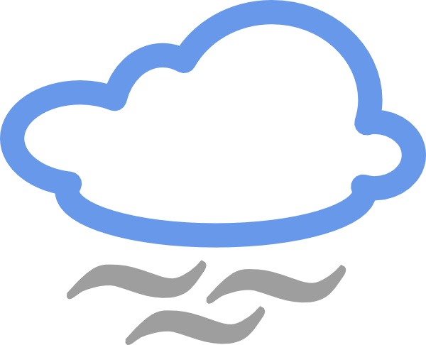 Cloudy Weather Symbols Clip Art At Clker Com   Vector Clip Art Online