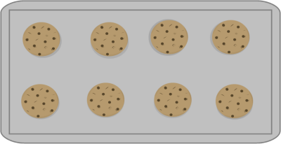 Cookies On Baking Sheet Clip Art