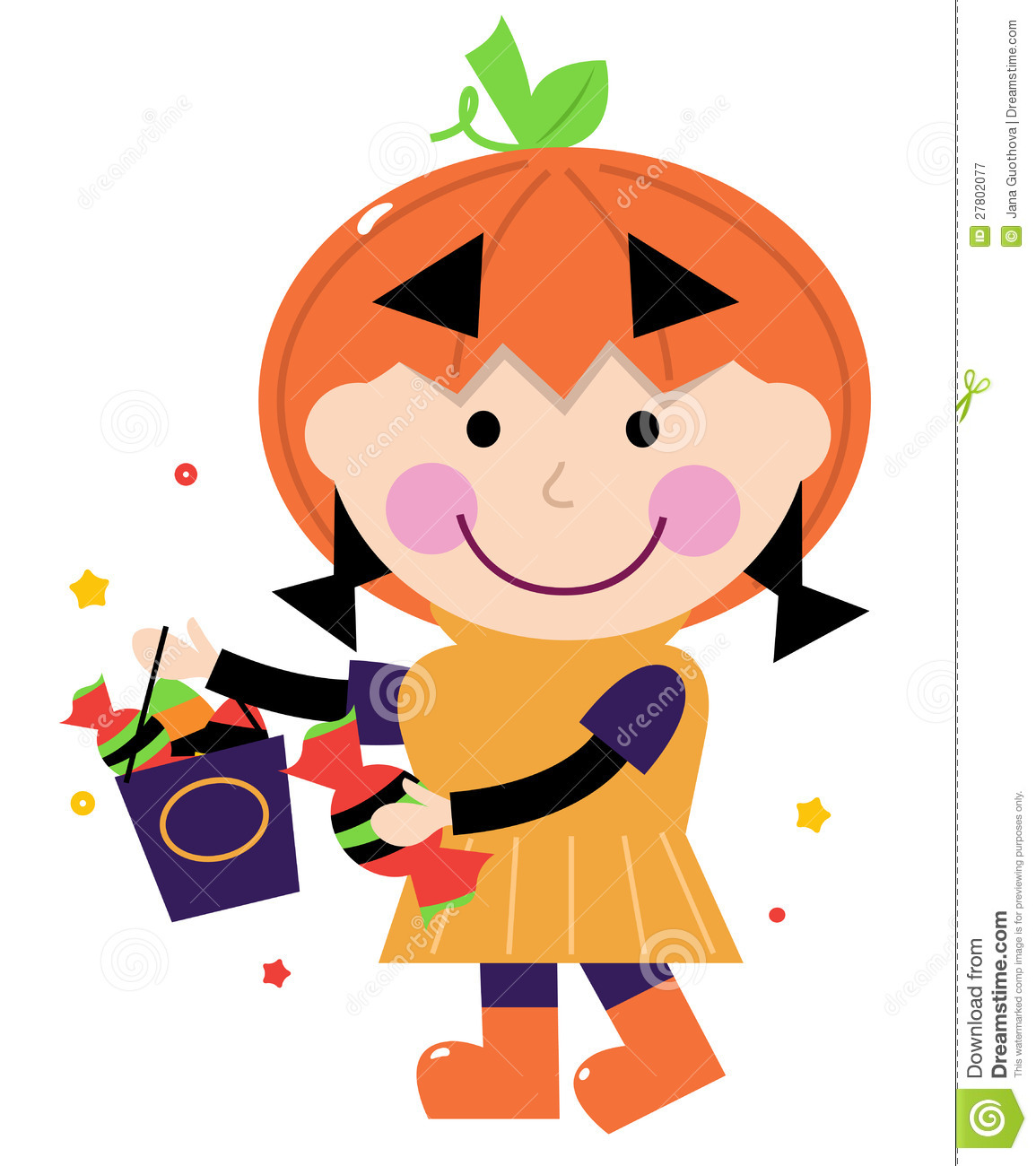 Cute Baby Pumpkin Clip Art Little Cute Girl Pumpkin Costume 27802077