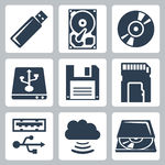 Device Clip Art Vector Graphics  1490 Data Storage Device Eps Clipart
