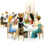 Dinner Party Illustrations And Clipart