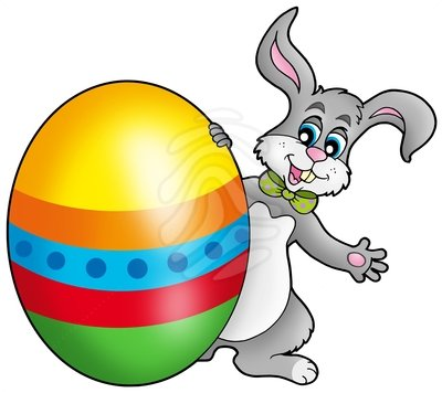 Bunny With Easter Eggs Clipart - Clipart Kid