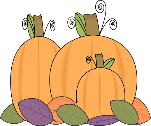 Fall Leaves And Pumpkins Clip Art Pictures