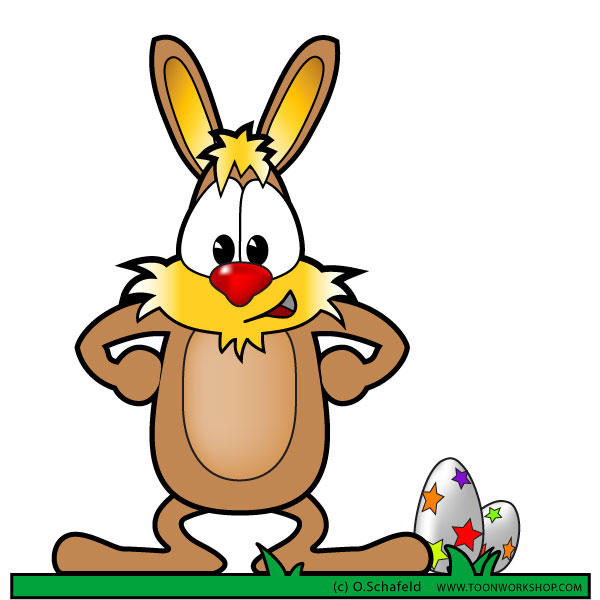 Free Easter Bunny Clipart Cartoon Style