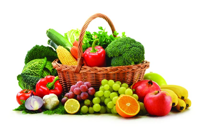 Fruit Vegetables And Basket Clipart - Clipart Kid