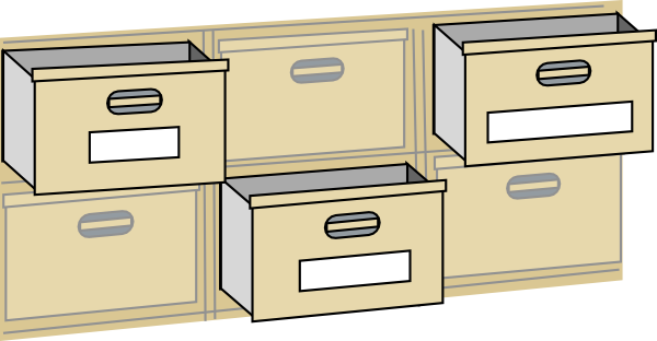 Furniture File Cabinet Drawers Clip Art At Clker Com   Vector Clip Art