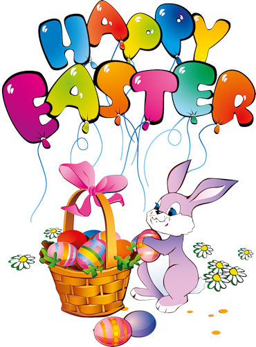 Happy Easter Bunny Transparent Clipart