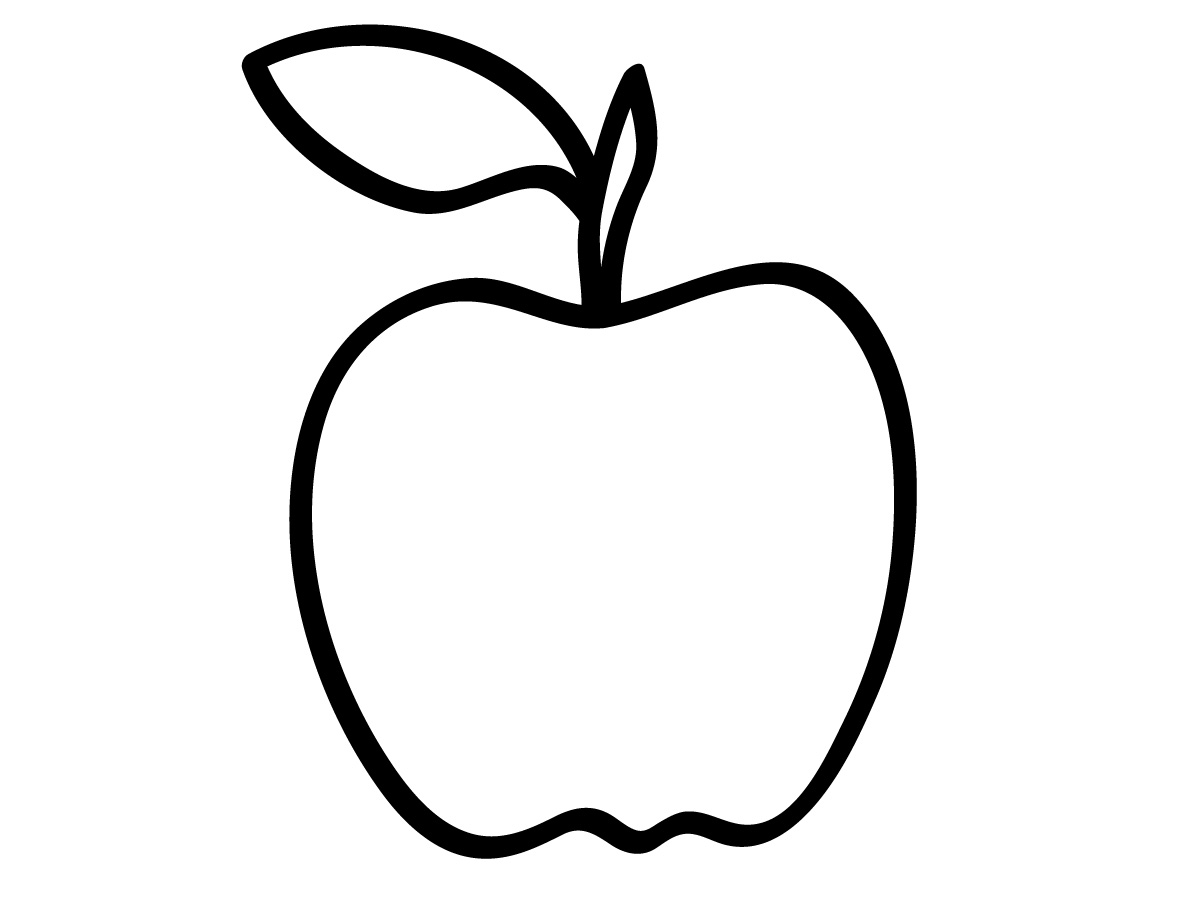 Line Art For Kindergarten : Apple for pages clipart suggest