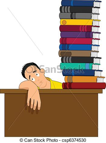 Lazy Student Clipart Figure Lazy Sitting With