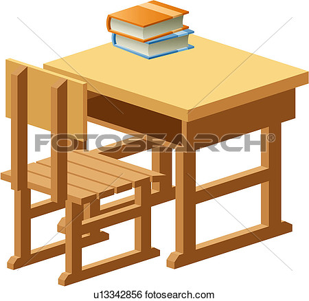 Object Table School Wooden Book Chair U13342856   Search Clipart