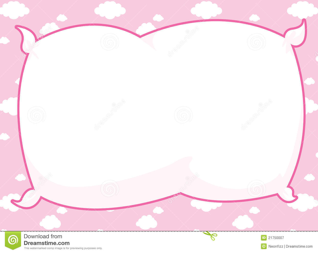 Pink Pillow Frame Royalty Free Stock Photography   Image  21750007