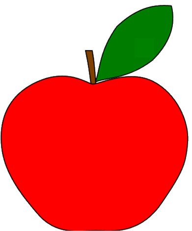 Red Apple With 1 Leaf Clipart Sketch Op Lge 12cm   Flickr   Photo