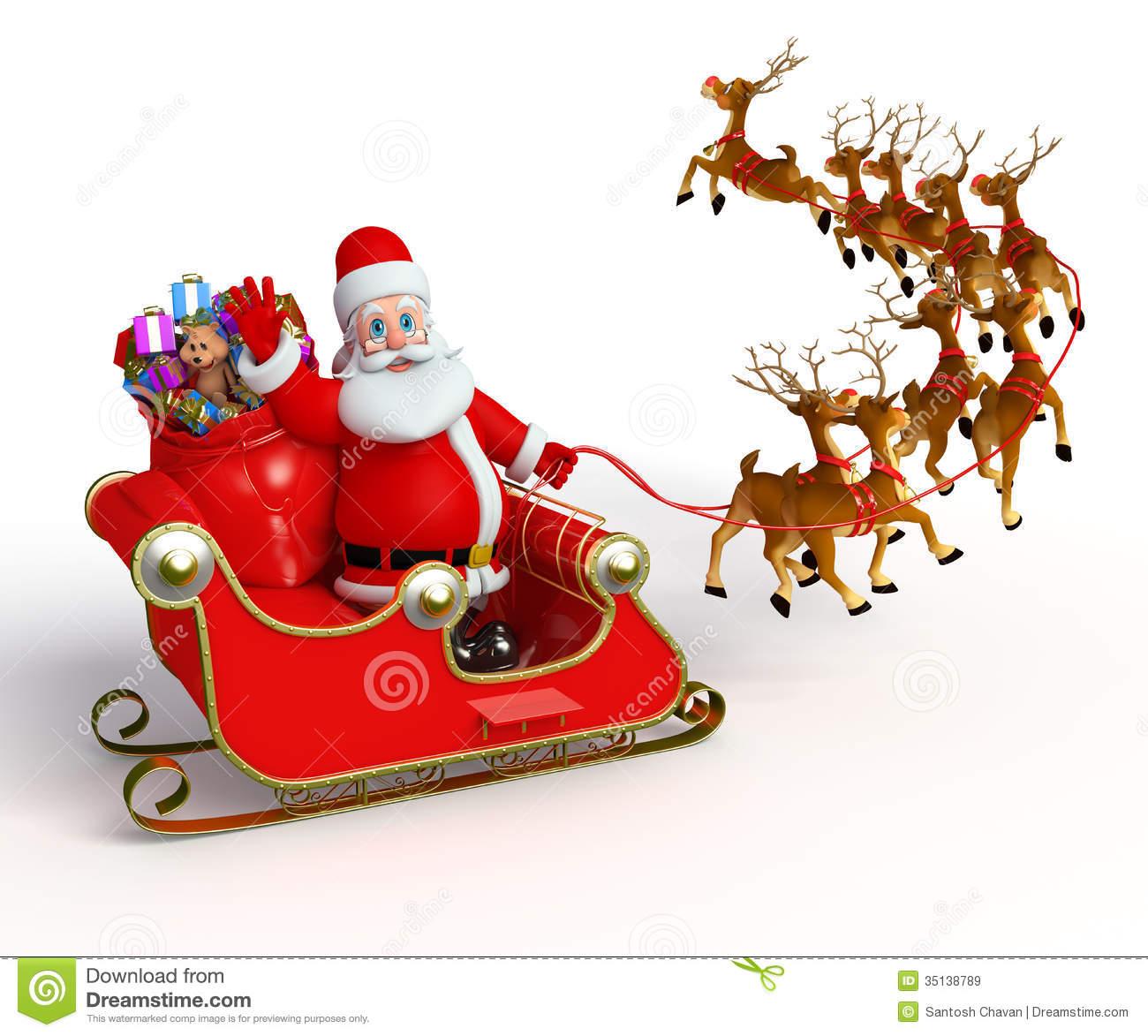 Santa sleigh santa claus with his sleigh