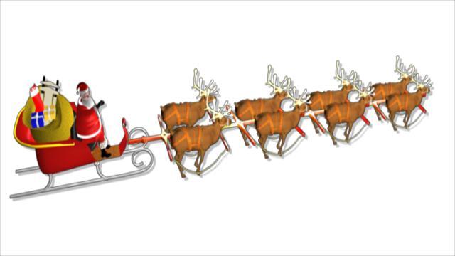 Santa Sleigh Elves Clip Art – Clipart Free Download