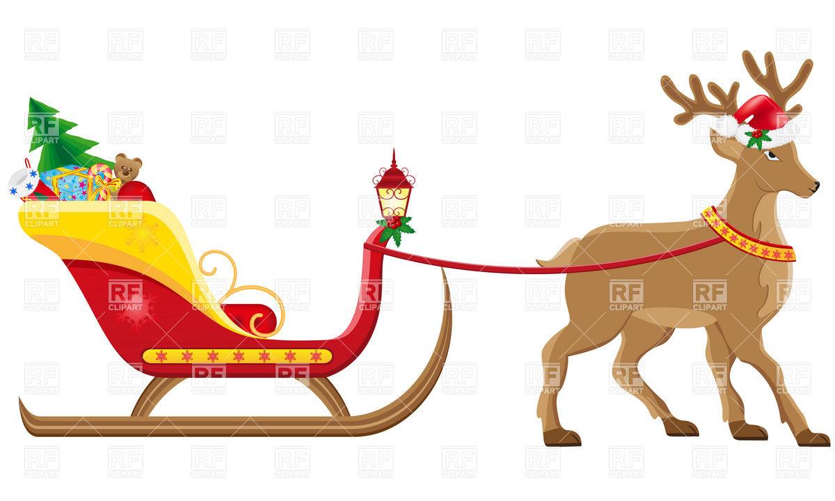 Santa Sleigh Clipart - Clipart Suggest