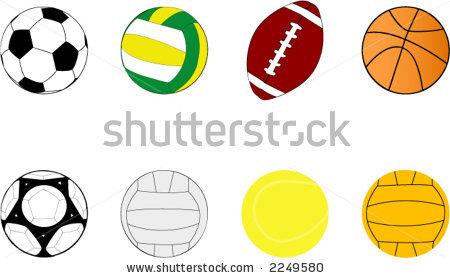 Sport Ball Border Clipart - Clipart Kid