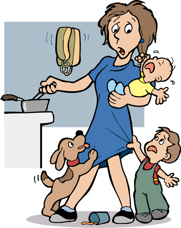 Stressed Mom Clipart - Clipart Kid
