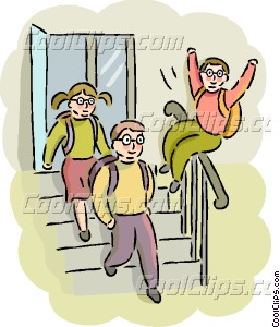 Students Leaving School Clipart - Clipart Suggest
