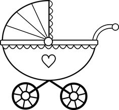 Baby Carriage Clip Art Black And White
