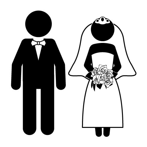 Cartoon Funny Bride And Groom   Clipart Best