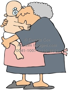 Clipart Image  Grandma Holding A Baby   Acclaim Stock Photography