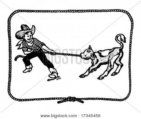 Western Vintage Border Clip Art