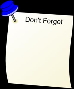 Dont Forget Clip Art At Clker Com   Vector Clip Art Online Royalty