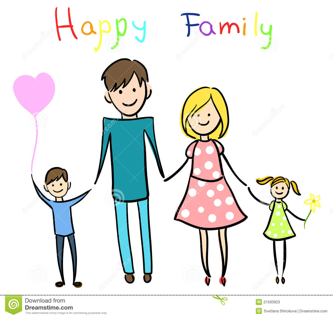 Family Word Clipart Extended Family Clipart Happy Family Holding Hands