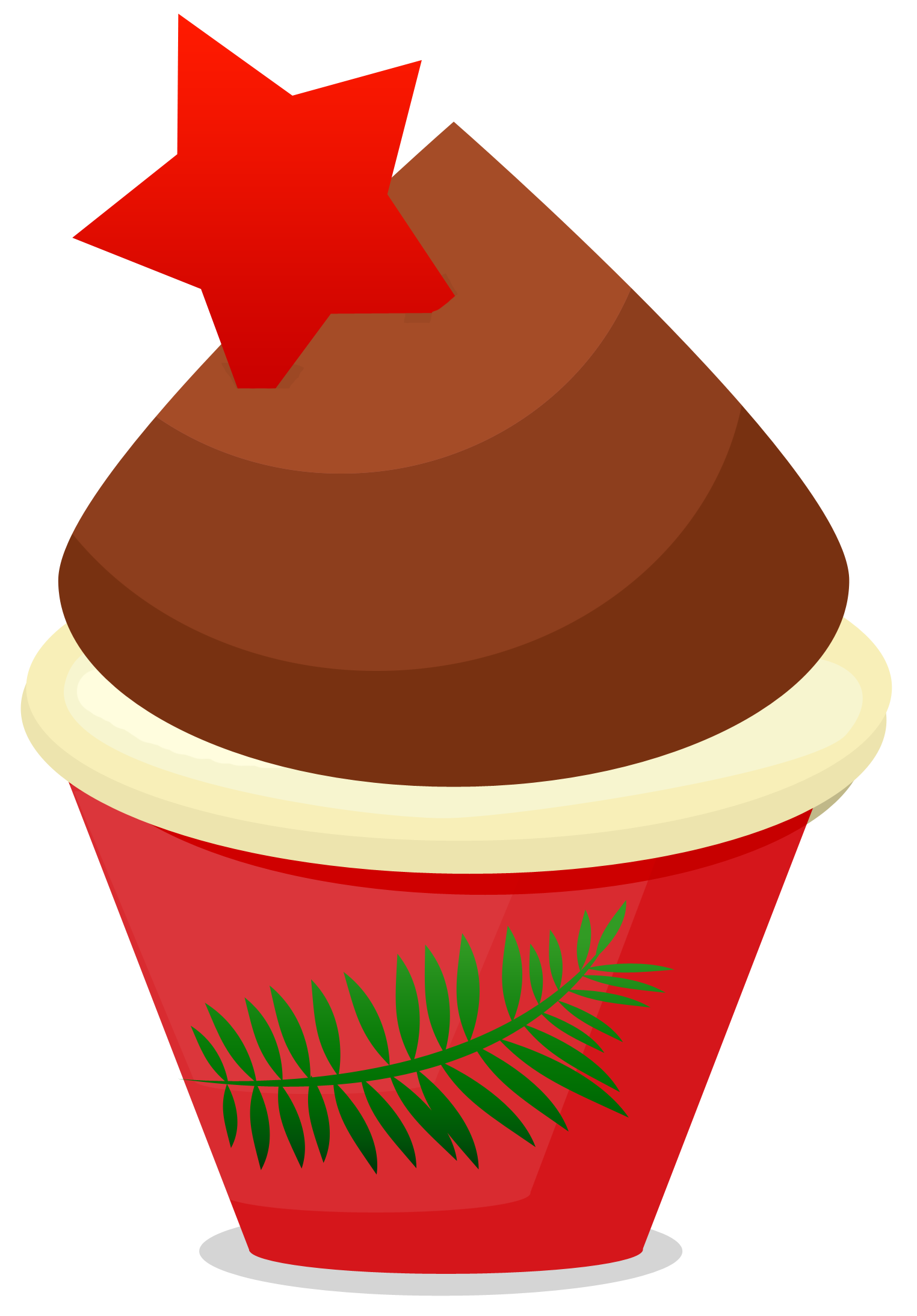 Free Christmas Cupcake Clipart   Cupcake Clipart