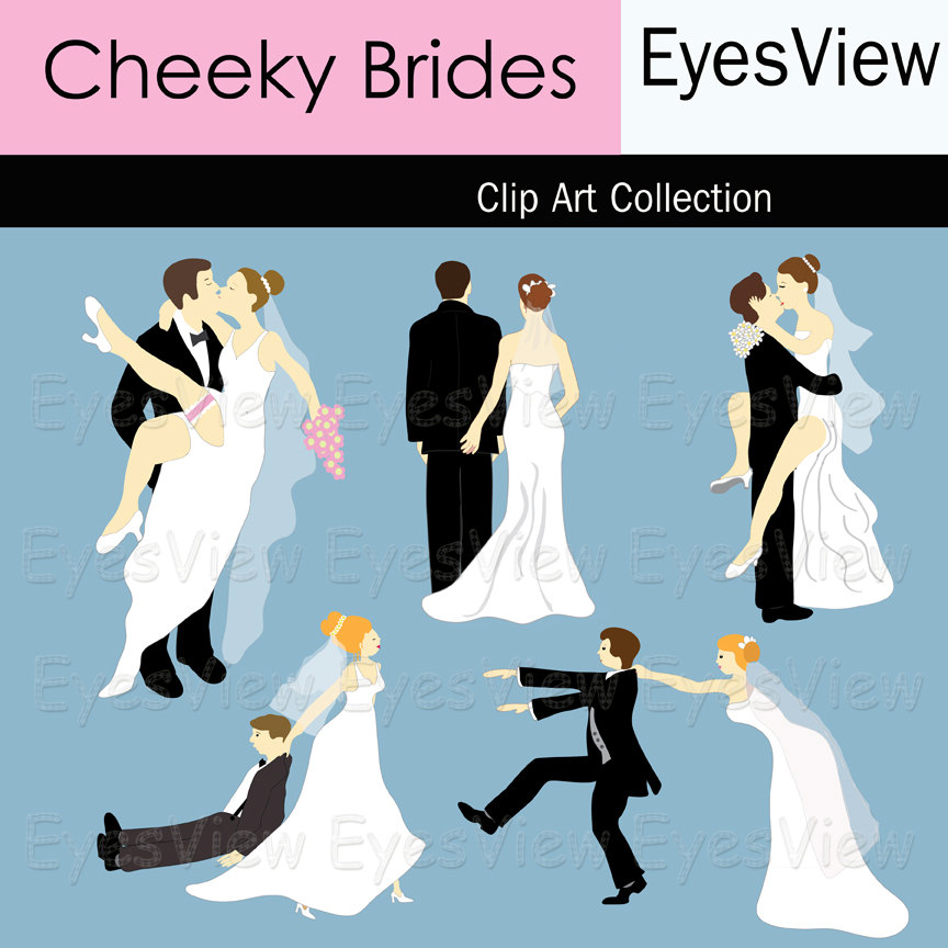 Funny Bride And Groom Clipart