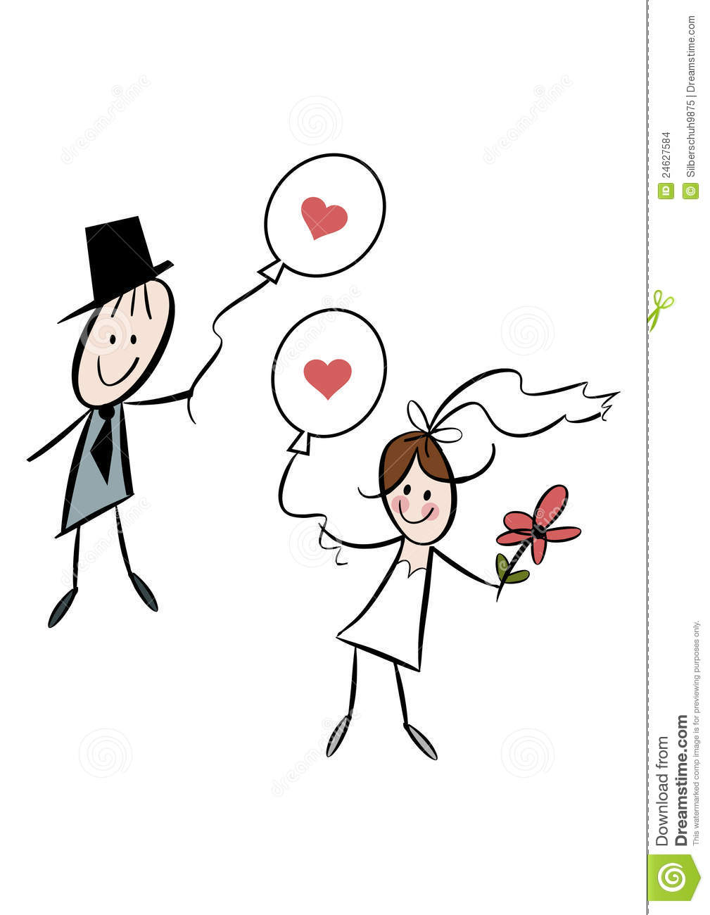 Funny Bride And Groom Clipart Cute Cartoon Bride And Groom