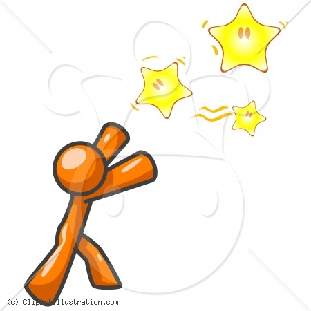 Goal Setting Clip Art Clipart Illustration Orange