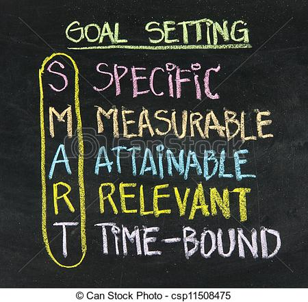 Goal Setting Clip Art Smart Goal Setting Concept