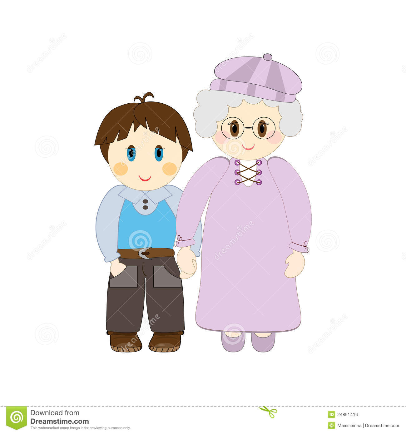 Grandma And Grandson Royalty Free Stock Image   Image  24891416