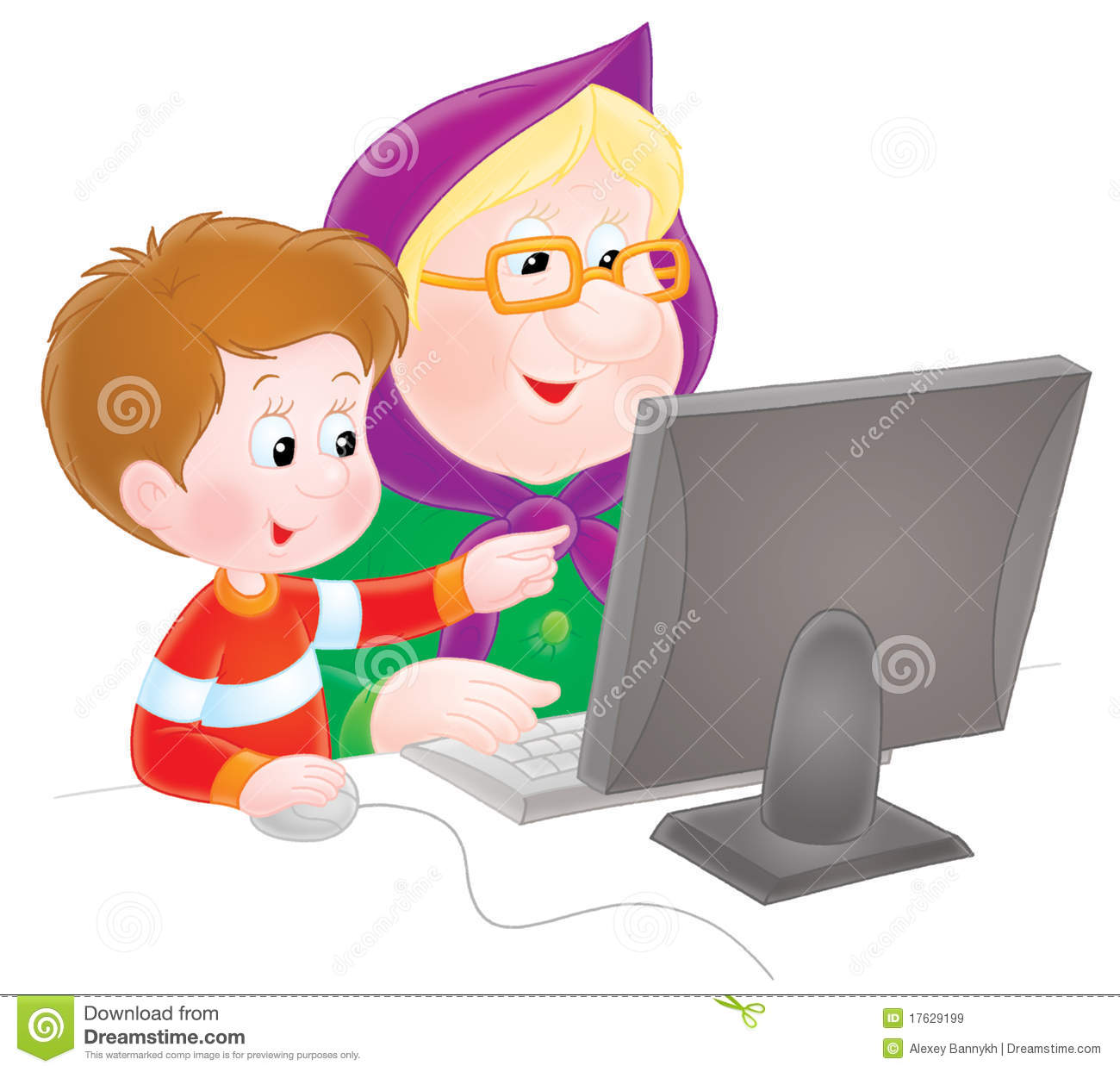 Grandma And Grandson Royalty Free Stock Images   Image  17629199